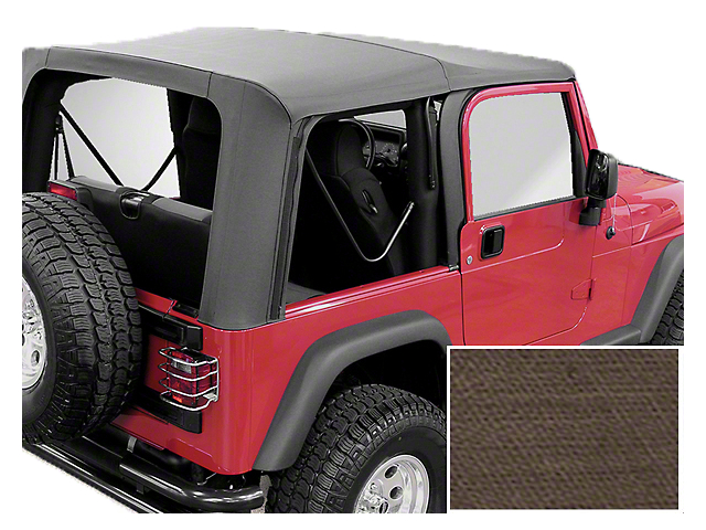 Rugged Ridge XHD Replacement Soft Top with Clear Windows; Khaki Diamond (03-06 Jeep Wrangler TJ, Excluding Unlimited)
