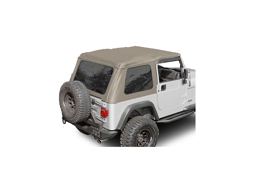 Rugged Ridge Bowless XHD Soft Top w/ Tinted Windows - Spice (97-06 Jeep Wrangler TJ, Excluding Unlimited)