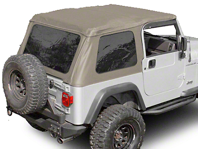 Rugged Ridge Bowless XHD Soft Top w/ Tinted Windows - Spice (97-06 Wrangler TJ, Excluding Unlimited)