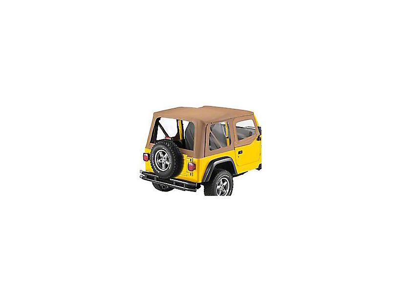 Bestop Replace-A-Top Clear Windows w/ Upper Half Door Skins - Spice (97-02 Jeep Wrangler TJ)