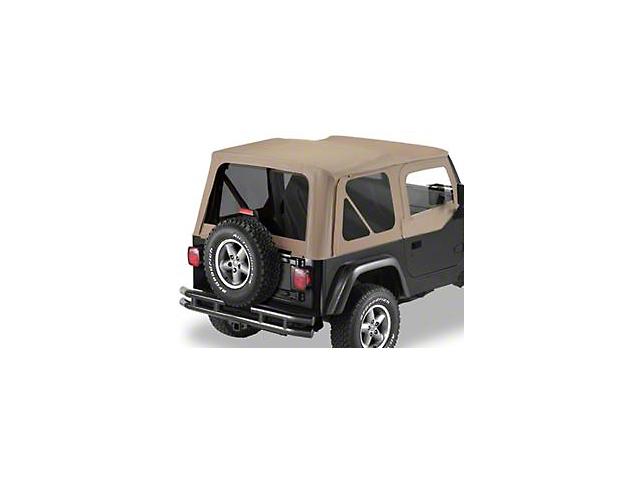 Bestop Replace-A-Top w/ Tinted Windows & Half Doors - Dark Tan (97-02 Jeep Wrangler TJ)