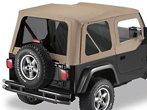 Bestop Replace-A-Top w/ Tinted Windows & Half Doors - Dark Tan (97-02 Jeep Wrangler TJ)