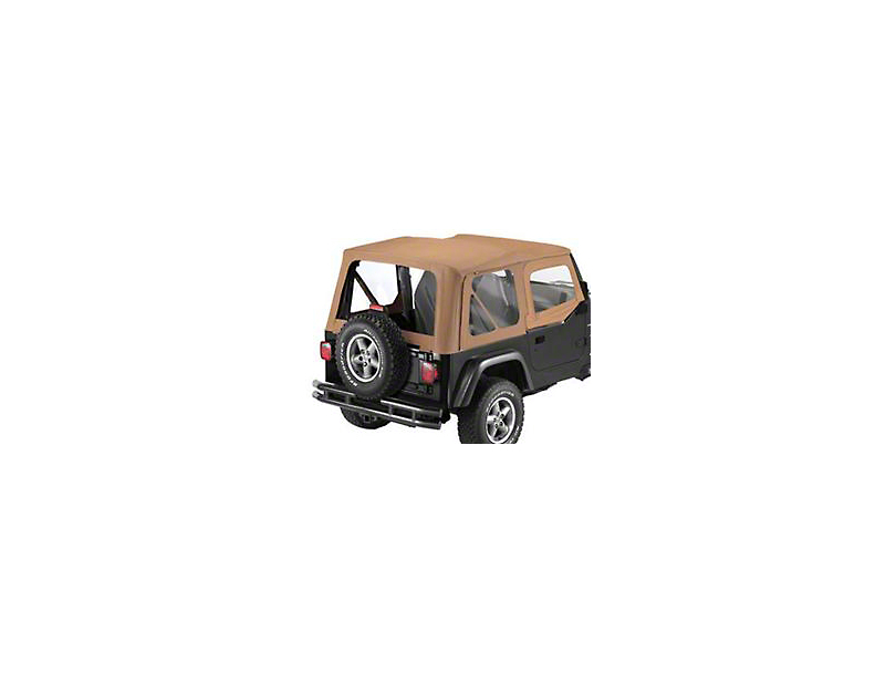 Bestop Sailcloth Replace-A-Top Clear Windows and Steel Half Doors; Spice (97-02 Jeep Wrangler TJ)