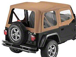 Bestop Sailcloth Replace-A-Top Clear Windows w/ Steel Half Doors - Spice (97-02 Jeep Wrangler TJ)