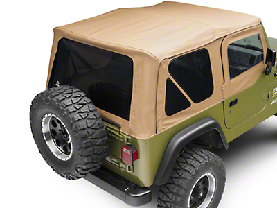 Bestop Sailcloth Replace-A-Top w/ Tinted Windows - Spice (97-02 Jeep Wrangler TJ w/ Half Steel Doors)