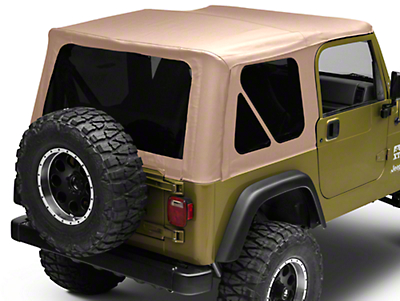 Bestop Sailcloth Replace-A-Top w/ Tinted Windows - Spice (97-02 Wrangler TJ w/ Full Steel Doors)