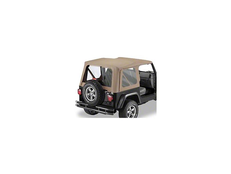 Bestop Soft Top Replace-A-Top Clear Windows - Dark Tan (97-02 Jeep Wrangler TJ w/ Full Steel Door)