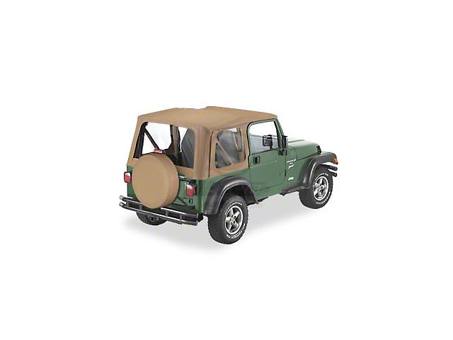 Bestop Soft Top Replace-A-Top Clear Windows - Spice (97-02 Jeep Wrangler TJ w/ Full Steel Door)