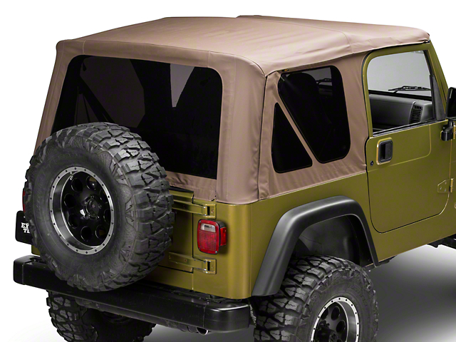 Bestop Soft Top Replace-A-Top w/ Tinted Windows - Spice (97-02 Jeep Wrangler TJ w/ Full Steel Doors)