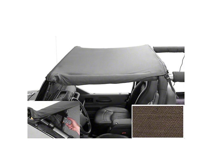 Rugged Ridge Pocket Brief Soft Top; Khaki Diamond (97-06 Jeep Wrangler TJ)