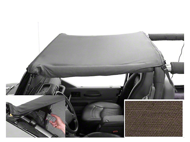 Rugged Ridge Pocket Brief Soft Top; Khaki Diamond (97-06 Jeep Wrangler TJ)