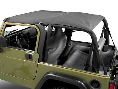 Smittybilt Extended Brief Top - Black Diamond (97-06 Wrangler TJ)