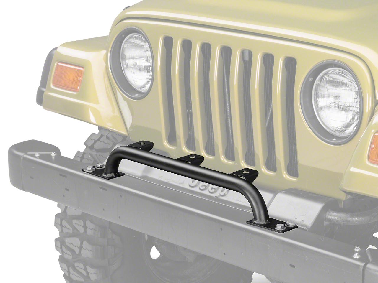 Olympic 4x4 Auxiliary Light Bar w/ 3 Light Tabs - Textured Black (87-06 Jeep Wrangler YJ & TJ)