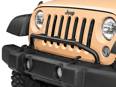 Olympic 4x4 Auxiliary Light Bar w/ 3 Light Tabs - Textured Black (07-18 Wrangler JK; 2018 Wrangler JL)