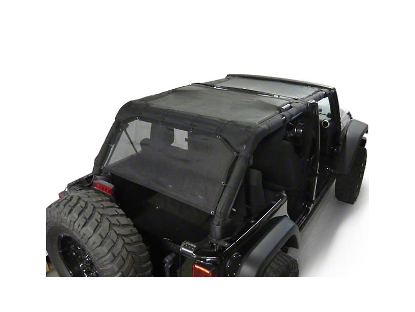 Dirty Dog 4x4 Sun Screen - Rear Seat (07-18 Jeep Wrangler JK 4 Door)