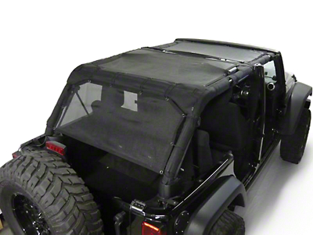 Dirty Dog 4x4 Sun Screen - Rear Seat (07-18 Wrangler JK 4 Door)
