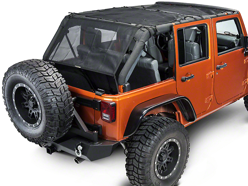 Dirty Dog 4x4 Front, Rear & Back Sun Screen (07-18 Jeep Wrangler JK 4 Door)