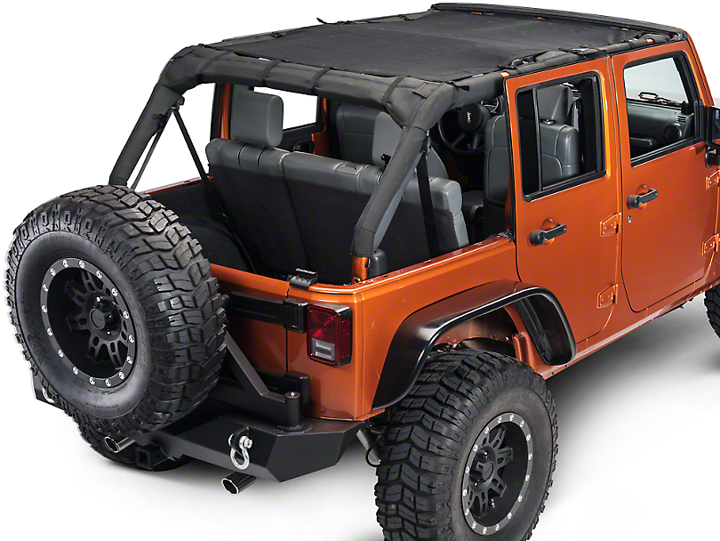 Dirty Dog 4x4 Front & Rear Sun Screen (07-18 Jeep Wrangler JK 4 Door)