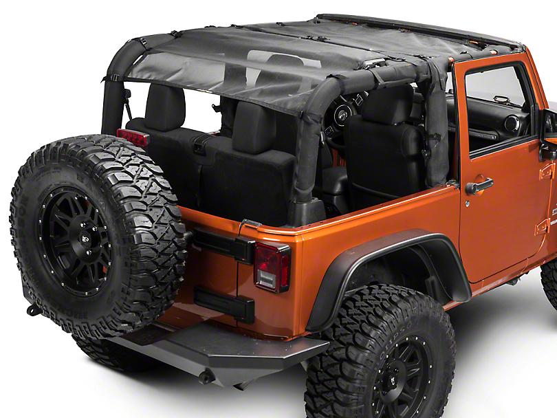 Dirty Dog 4x4 Front & Rear Sun Screen (07-18 Jeep Wrangler JK 2 Door)
