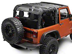 Dirty Dog 4x4 Front and Rear Seat Sun Screen; Black (07-18 Jeep Wrangler JK 2 Door)