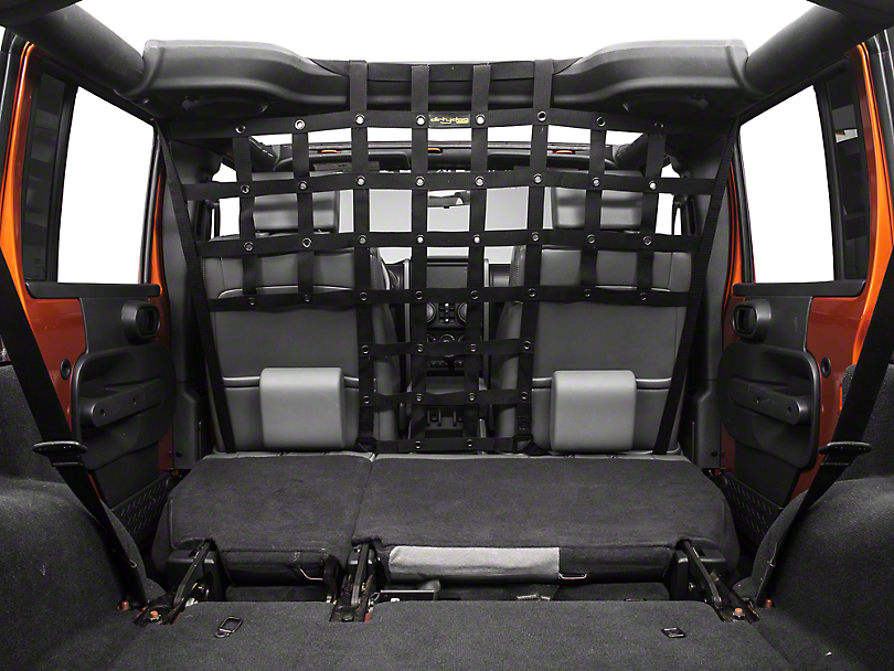 Dirty Dog 4x4 Pet Divider - Mounts Behind Front Seats - Black (07-18 Jeep Wrangler JK)