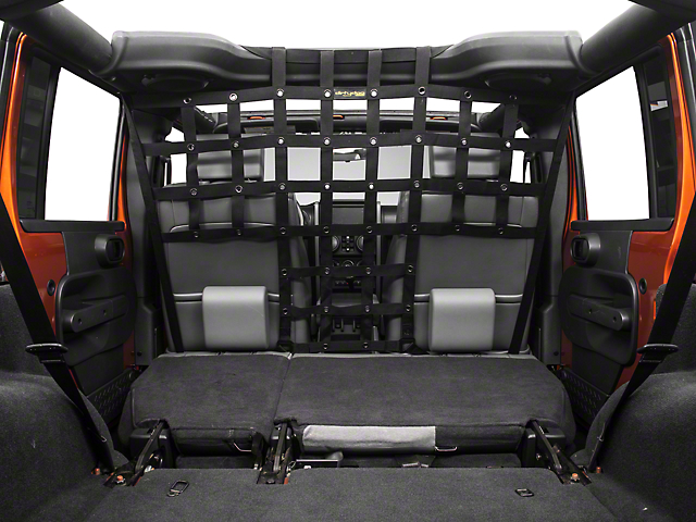 Dirty Dog 4x4 Pet Divider - Mounts Behind Front Seats - Black (07-18 Wrangler JK)
