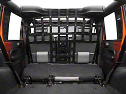 Dirty Dog 4x4 Pet Divider; Mounts Behind Front Seats; Black (07-18 Jeep Wrangler JK)