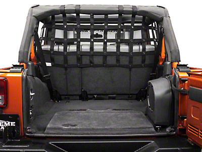 Dirty Dog 4x4 Rear Pet Divider - Half - Black (07-18 Wrangler JK 4 Door)