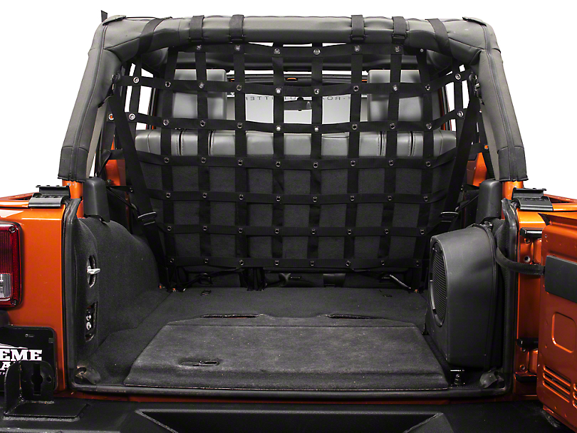 Dirty Dog 4x4 Full Cargo/Pet Divider - Black (07-18 Jeep Wrangler JK 4 Door)