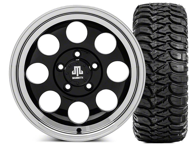 Mammoth 8 15x8 Wheel and Mickey Thompson Baja MTZ 33X12.50R15 Tire Kit (87-06 Jeep Wrangler YJ & TJ)