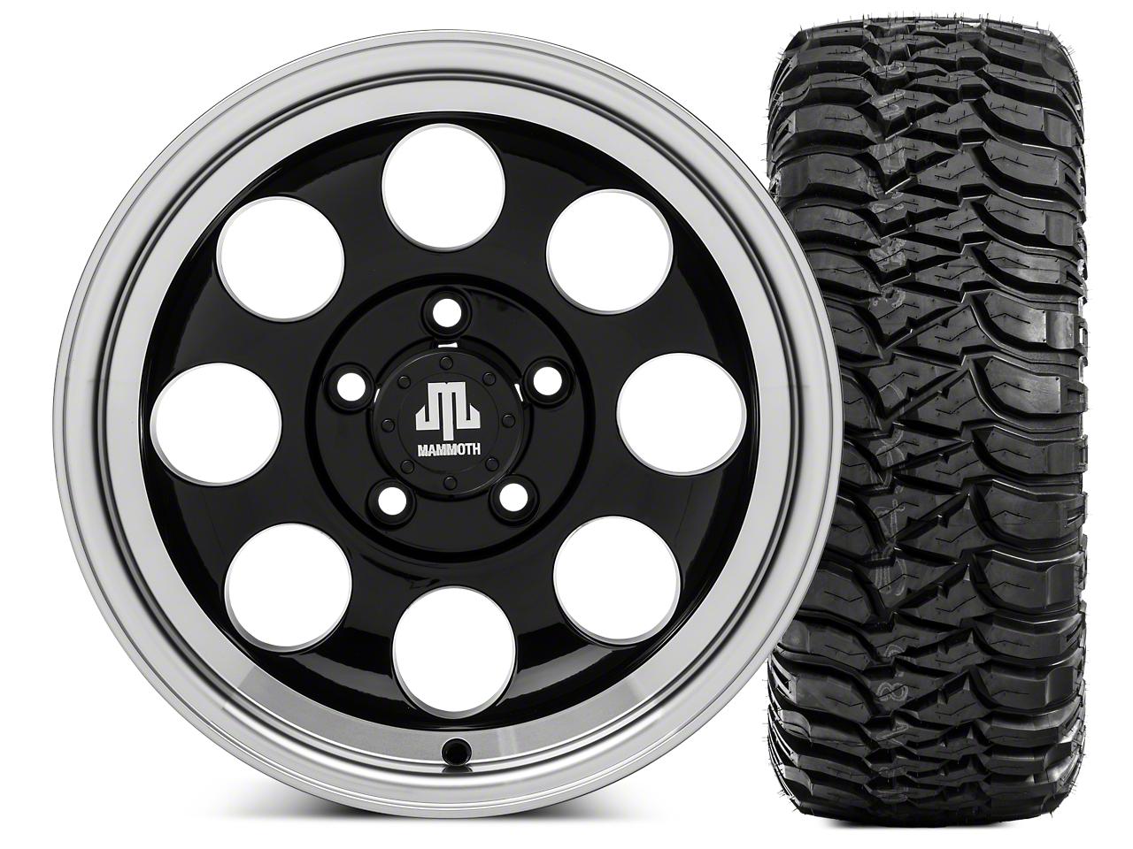 Mammoth 8 15x8 Wheel & Mickey Thompson Baja MTZ 33X12.50R15 Tire Kit (87-06 Jeep Wrangler YJ & TJ)