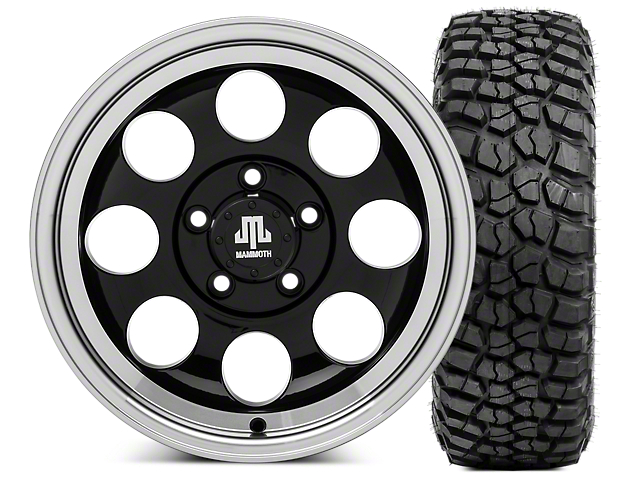 Mammoth 8 15x8 Wheel & BFG KM2 33x10.5- 15 Tire Kit (87-06 Jeep Wrangler YJ & TJ)