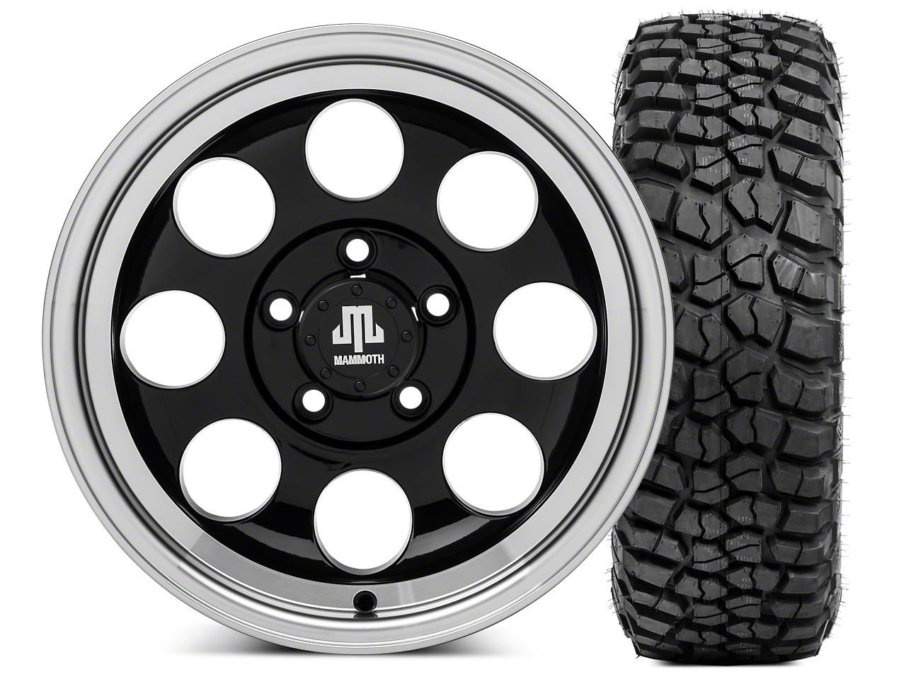 Mammoth 8 15x8 Wheel & BFG KM2 33x10.5- 15 Tire Kit (87-06 Jeep Wrangler YJ & TJ)