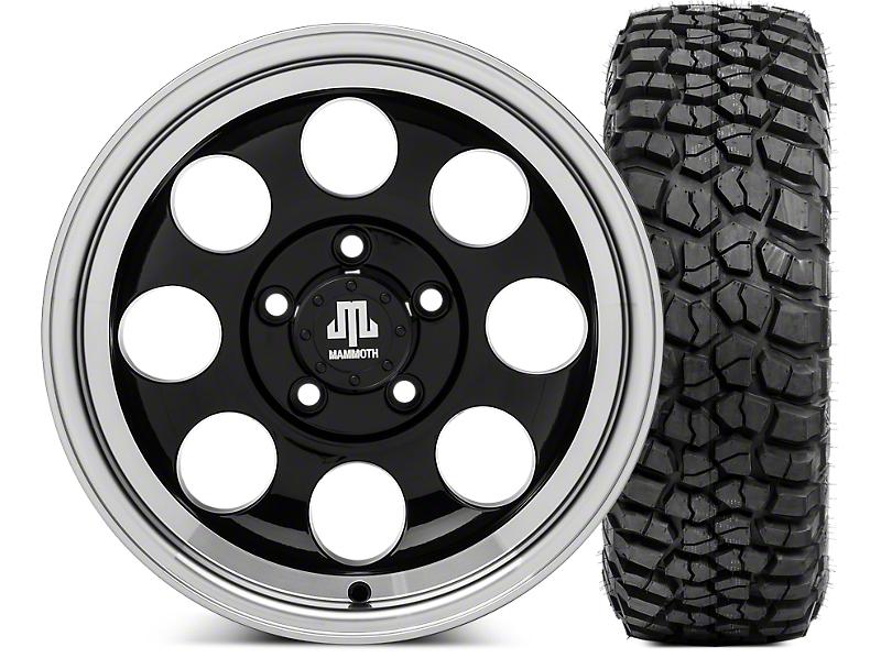 Mammoth 8 15x8 Wheel & BFG KM2 35x12.5- 15 Tire Kit (87-06 Jeep Wrangler YJ & TJ)