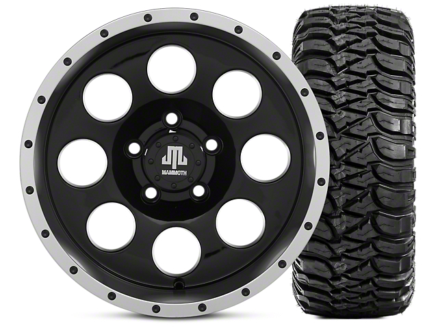 Mammoth 8 Beadlock 15x8 Wheel & Mickey Thompson Baja MTZ 33X12.50R15 Tire Kit (87-06 Jeep Wrangler YJ & TJ)
