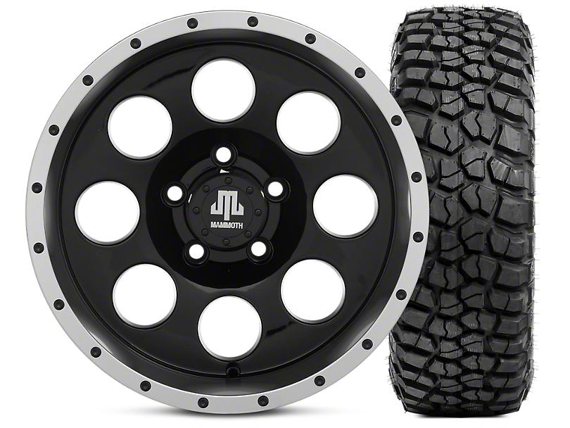 Mammoth 8 Beadlock 15x8 Wheel & BFG KM2 33x10.5- 15 Tire Kit (87-06 Jeep Wrangler YJ & TJ)
