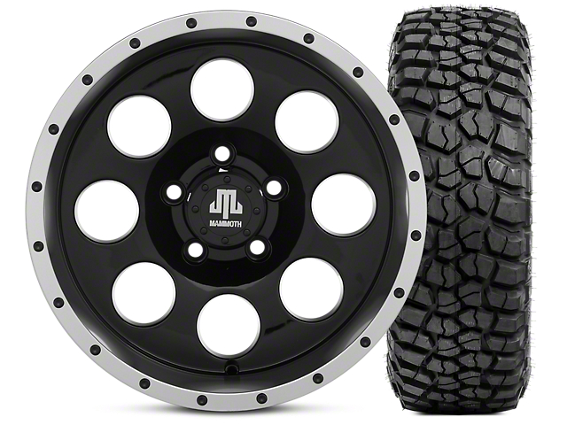 Mammoth 8 Beadlock 15x8 Wheel & BFG KM2 35x12.5- 15 Tire Kit (87-06 Jeep Wrangler YJ & TJ)