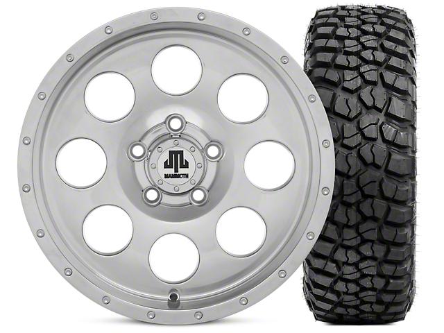 Mammoth 8 Beadlock Style Polished 15x8 Wheel & BFG KM2 35x12.5- 15 Tire Kit (87-06 Jeep Wrangler YJ & TJ)