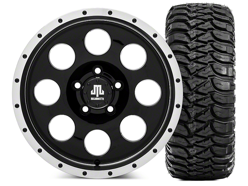 Mammoth 8 Beadlock 16x8 Wheel & Mickey Thompson Baja MTZ 35x12.5- 16 Tire Kit (87-06 Jeep Wrangler YJ & TJ)