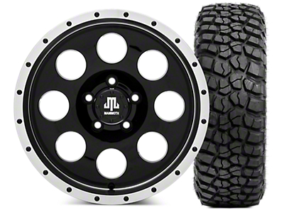 Mammoth 8 Beadlock 16x8 Wheel & BFG KM2 315/75- 16 Tire Kit (87-06 Jeep Wrangler YJ & TJ)