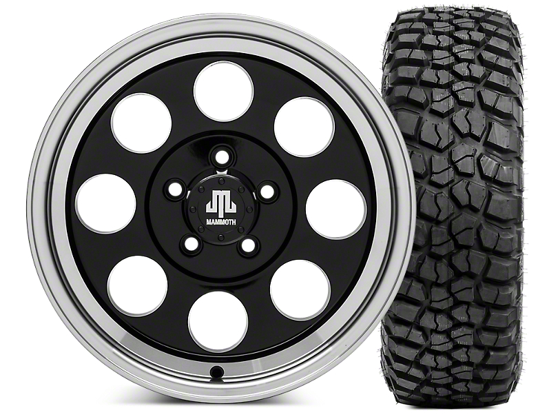 Mammoth 8 16x8 Wheel & BFG KM2 315/75- 16 Tire Kit (87-06 Jeep Wrangler YJ & TJ)