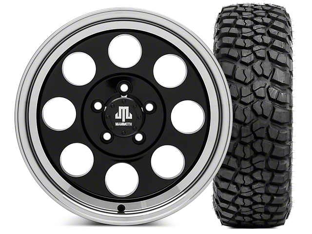 Mammoth 8 16x8 Wheel & BF Goodrich KM2 315/75R16 Tire Kit (87-06 Jeep Wrangler YJ & TJ)