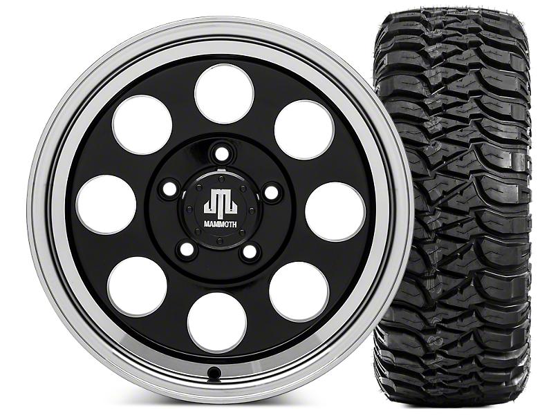Mammoth 8 Wheel - 16x8 Wheel - and Mickey Thompson Baja MTZ 35x12.5- 16 Tire Kit (07-18 Jeep Wrangler JK; 2018 Jeep Wrangler JL)