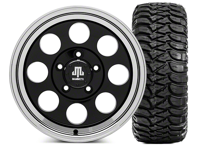 Mammoth 8 16x8 Wheel & Mickey Thompson Baja MTZ 35x12.50R16 Tire Kit (07-18 Jeep Wrangler JK)