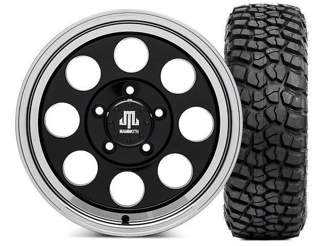 Mammoth 8 Wheel - 16x8 Wheel - and BFG KM2 Tire 265/75- 16 Tire Kit (07-18 Wrangler JK)