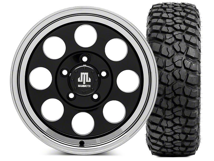 Mammoth 8 Wheel - 16x8 Wheel - and BFG KM2 Tire 315/75- 16 Tire Kit (07-18 Jeep Wrangler JK)