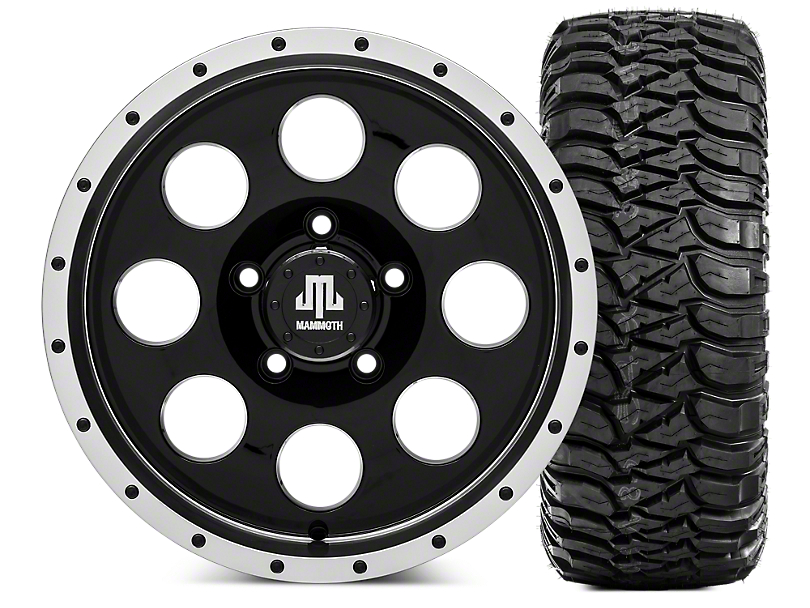 Mammoth 8 Beadlock 16x8 Wheel & Mickey Thompson Baja MTZ 35x12.50R16 Tire Kit (07-18 Jeep Wrangler JK)