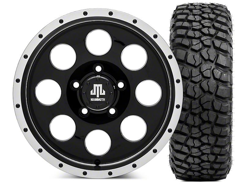 Mammoth 8 Beadlock 16x8 Wheel & BF Goodrich KM2 Tire Kit 315/75R16 (07-18 Jeep Wrangler JK)