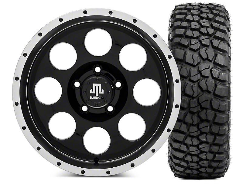 Mammoth 8 Beadlock Wheel - 17x9 and BFG KM2 Tire 265/75- 17 (07-18 Jeep Wrangler JK; 2018 Jeep Wrangler JL)