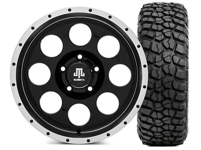 Mammoth 8 Beadlock Wheel; 17x9 and BFG KM2 Tire 265/75- 17 (07-18 Jeep Wrangler JK)